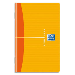 Carnet Oxford Office - reliure piqure - couverture souple - format 9x14cm - 96 pages - réglure 5x5
