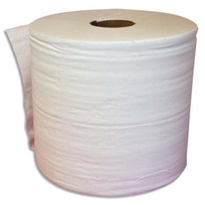 Lot de 2 bobines d'essuyage blanche - 1000 formats 30 x 21 cm - l 300 m