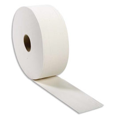 Colis de 6 bobines Jumbo de papier toilette Papernet - 2 plis pure cellulose - 1245 formats - l 380 m - blanc (photo)