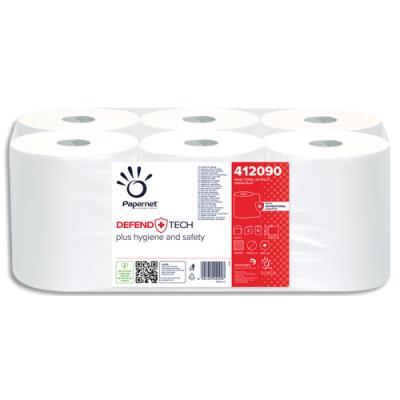 Bobine d'essuie-mains blancs pour distributeur Papernet Autocut - 700 formats - colis de 6 (photo)