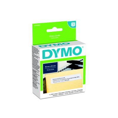 Rouleau de 500 étiquettes repositionnables pour Dymo Labelwriter - 19 x 51 mm - Dymo