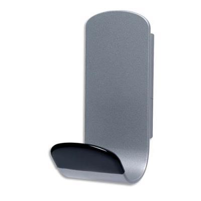 Patère magnétique anti-dérapant grise  Unilux - 6,8 x 14,8 x 7,6 cm - 12 Kg (photo)