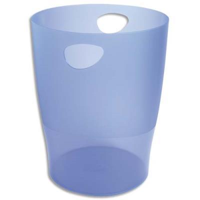 Corbeille à papier Exacompta Eco en polystyrène - 15 l - bleu translucide (photo)