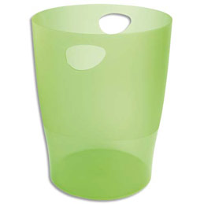 Corbeille à papier Exacompta Eco en polystyrène - 15 l - vert translucide (photo)