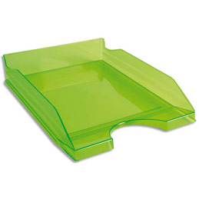 Corbeille à courrier Exacompta éco - vert translucide