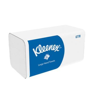Essuie-mains pliés Kleenex Ultra 6778 - double épaisseur - enchevêtrées - paquet de 124 feuilles - blanc - boîte 15 pochettes