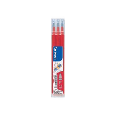 Recharge pour stylos Pilot FriXion Ball Clicker pointe fine - 0,5 mm - rouge - lot de 3 - paquet 3 unités