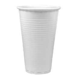 Gobelets blancs en plastique pour boisson froide - 20 cl - sachet de 100 (photo)