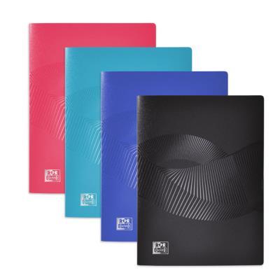 Protège-documents Oxford Osmose A5 - 20 pochettes en polypropylène - couvertures opaques/translucides coloris assortis