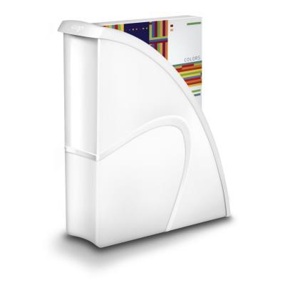 Porte-revues CEP Gloss - dos 8 cm - blanc
