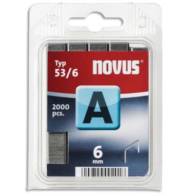 Agrafes Novus 53/6 - boîte de 2000 (photo)