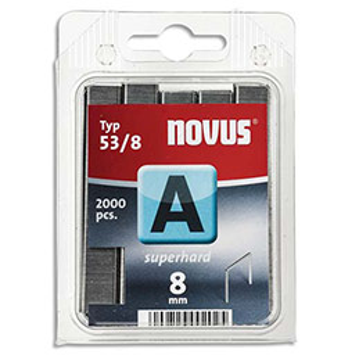 Agrafes Novus 53/8 - boîte de 2000 (photo)