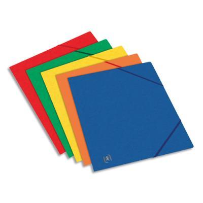 Chemise 3 rabats et elastique Elba - carte lustree 5/10 - elastiques - format A5 17 x 22 cm - coloris assortis