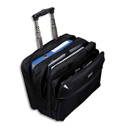 Pilot case trolley Lightpak 4 compartiments nylon - noir - 43 x 34 x 20 cm (photo)