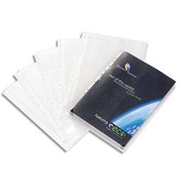 Pochettes perforées Seco - polypropylène lisse 12/100e - sans rabat - A4 - 11 trous - boîte de 10