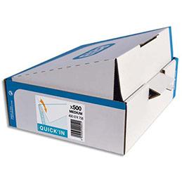 Pochettes perforées Elba Quick'In - polypropylène 5/100 lisse - A4 - perforation 11 trous - boîte de 500 (photo)