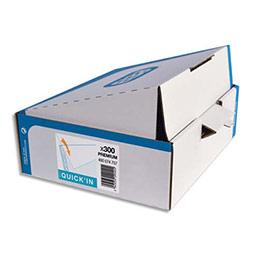 Pochettes perforées Elba Quick'In - polypropylène 9/100 lisse - A4 - perforation 11 trous - boîte de 300