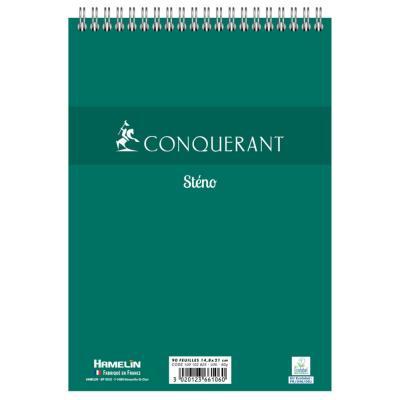 Bloc de bureau sténo 001 Hamelin - format A5 14,8 x 21 cm - uni - 100 pages (photo)