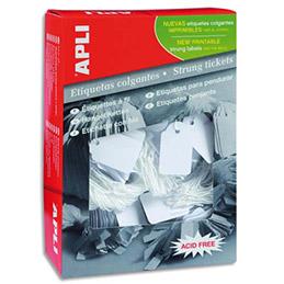 Etiquette - à fil blanc - spéciale bijouterie - 36 x 53 mm - boîte de 500 (photo)