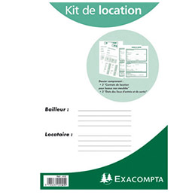 Kit contrat de location non meubl e exacompta 41e achat Contrat de colocation meublee