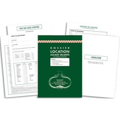 Kit dossier location meubl e feuillets contrat de location - Etat des lieux location meublee pdf ...