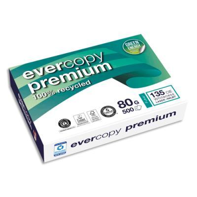 Papier recyclé Evercopy Premium - blanc - 80 g - A4 - ramette de 500 feuilles