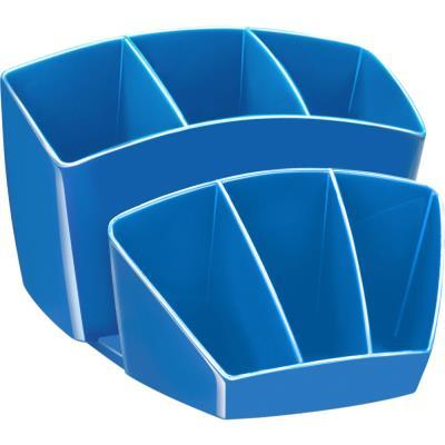Pot à crayon CEP Gloss - multiples rangements - capacité 40 crayons - bleu océan