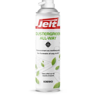 Aérosol dépoussiérant Jelt Dustergreen toutes positions - gaz HFO sans HFC - 650ml/300g (photo)