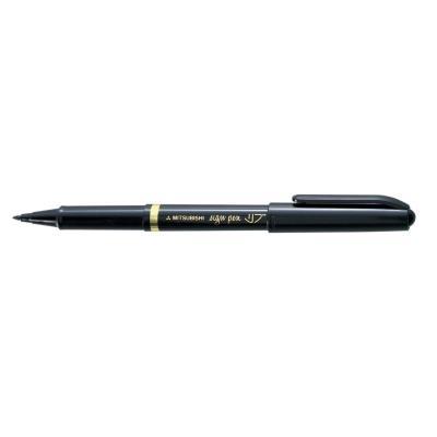 Stylo feutre Uniball Sign Pen MYT7 - pointe en nylon - trait 0.8 mm - encre à pigments bleue