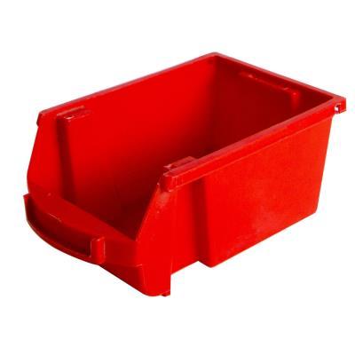 Bac à bec en plastique - 1 L - porte étiquette - polypropylène rouge - L 10 x H 7 x P 16 cm