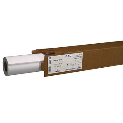 Rouleau de papier blanc Hicolor pour traceur jet d'encre Monochrome - format 0,914 x 50m - 90g - rouleau 50 mètres