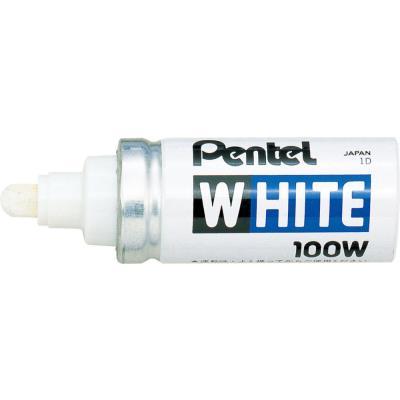 Marqueur peinture Pentel 100W - pointe ogive large 6,6 mm - blanc