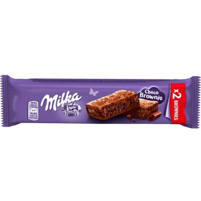 Choco Brownie - gâteau moelleux au chocolat au lait avec des pépites - sachet de 2