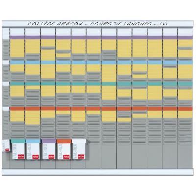 Planning à fiches T2 Nobo - 13 colonnes - 80 x 66 cm