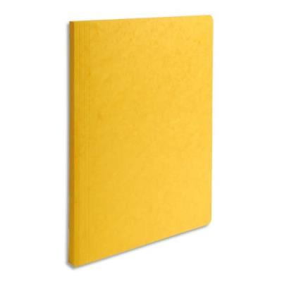 Chemise simple à dos rainé Exacompta Lustro - carte 5/10e - 24 x 32 cm - jaune
