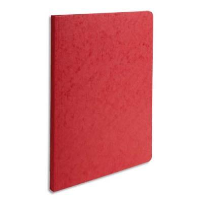 Chemise simple à dos rainé Exacompta Lustro - carte 5/10e - 24 x 32 cm - rouge (photo)
