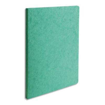Chemise simple à dos rainé Exacompta Lustro - carte 5/10e - 24 x 32 cm - vert (photo)