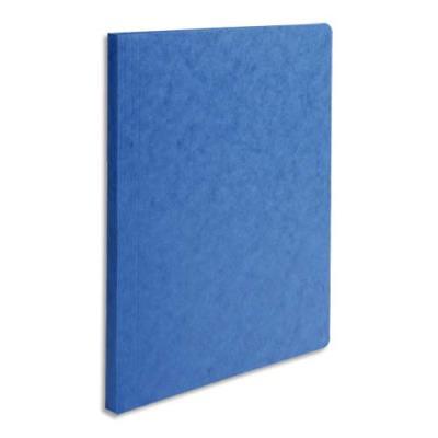 Chemise simple à dos rainé Exacompta Lustro - carte 5/10e - 24 x 32 cm - bleu (photo)