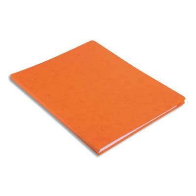 Chemise simple à dos rainé Exacompta Lustro - carte 5/10e - 24 x 32 cm - orange (photo)