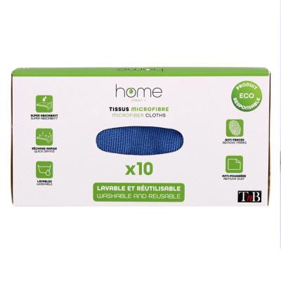 Chiffon de nettoyage en microfibreTnb - lavable et réutilisable - 20 x 20 cm - bleu (photo)