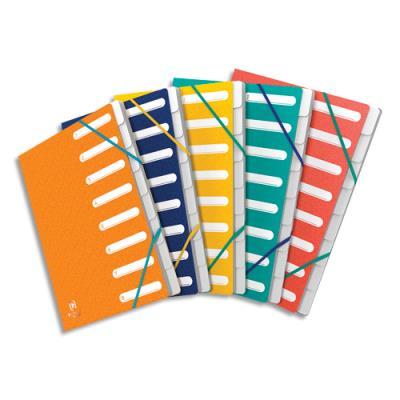 Trieurs Elba 503 - 7 compartiments - coloris assortis - couverture en carte lustrée 5/10ème Bicolore