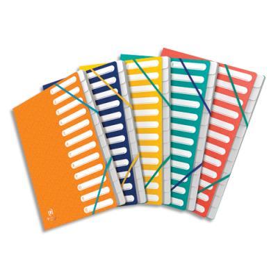 Trieurs Elba 503 - 12 compartiments - coloris assortis - couverture en carte lustrée 5/10ème Bicolore