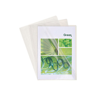 Boîte de 100 pochettes coin Exacompta - en PVC 14/100 ème - coloris cristal