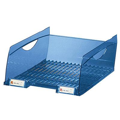 Bac à courrier grande capacité REXEL - H. 13 cm - bleu opaque