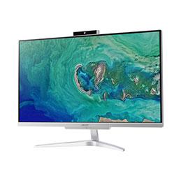 Acer Aspire C 24 C24-865 - Tout-en-un - 1 x Core i3 8130U / 2.2 GHz - RAM 4 Go - HDD 1 To - UHD Graphics 620 - GigE - LAN sans fil: Bluetooth, 802.11a/b/g/n/ac - Win 10 Familiale 64 bits - moniteur : LED 23.8