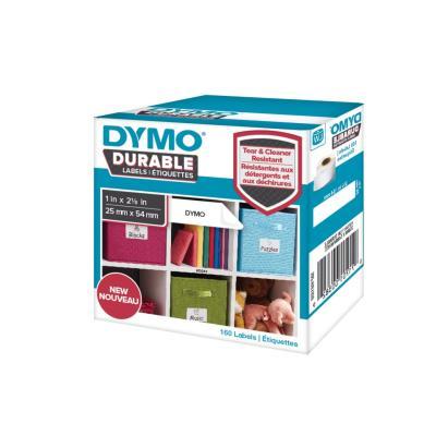 Etiquettes Dymo LabelWriter - durable - noir/blanc - 25 x 54 mm - rouleau de 160