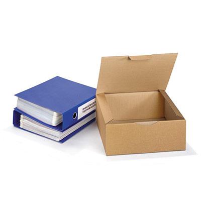 Boîte d'expédition en carton Raja - simple cannelure - L.33 x l.30 x H.13 cm - brun (photo)
