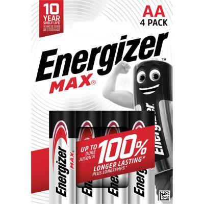Pile alcaline AA / LR6 Energizer Max - lot de 4