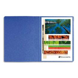 Chemise à lamelles et compresseur - capacité 350 feuilles perforées - carte lustrée - coloris bleu (photo)