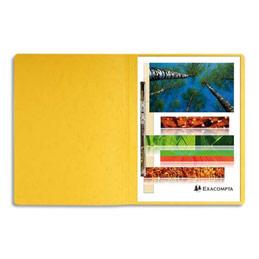 Chemise à lamelles et compresseur - capacité 350 feuilles perforées - carte lustrée - coloris jaune (photo)